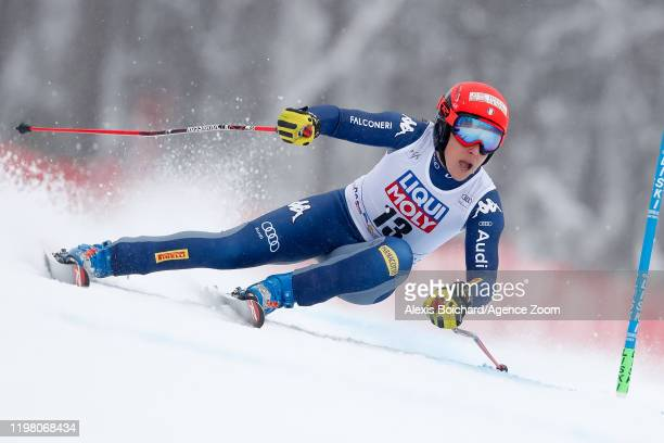 Federica Brignone of Italy competes during the Audi FIS Alpine Ski World Cup Women's Super G on February 2, 2020 in Sochi Russia.