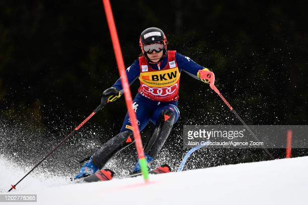 Federica Brignone of Italy competes during the Audi FIS Alpine Ski World Cup Women's Alpine Combined on February 23, 2020 in Crans Montana...