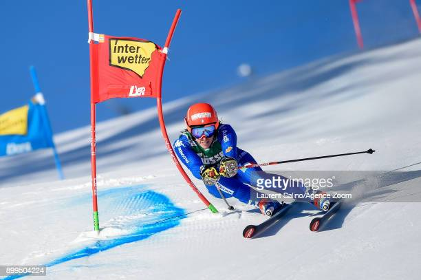 Federica Brignone of Italy competes during the Audi FIS Alpine Ski World Cup Women's Giant Slalom on December 29, 2017 in Lienz, Austria.