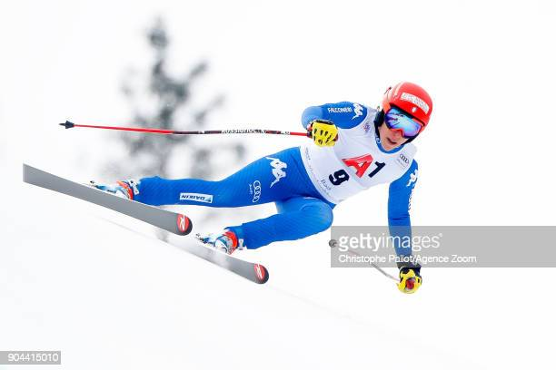 Federica Brignone of Italy competes during the Audi FIS Alpine Ski World Cup Women's Super G on January 13 2018 in Bad Kleinkirchheim Austria