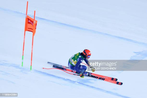 Federica Brignone of Italy competes during the ladie's downhill event at the FIS ski alpine World Cup in Bansko Bulgaria on January 24 2020