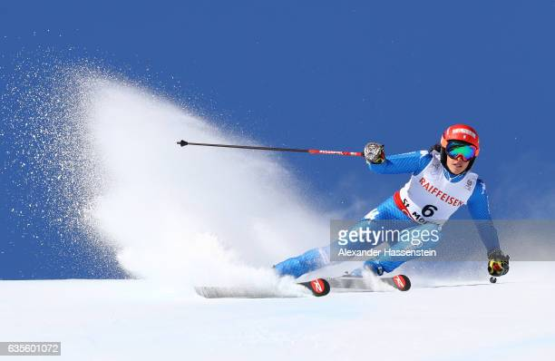 Federica Brignone of Italy competes in the Women's Giant Slalom during the FIS Alpine World Ski Championships on February 16 2017 in St Moritz...