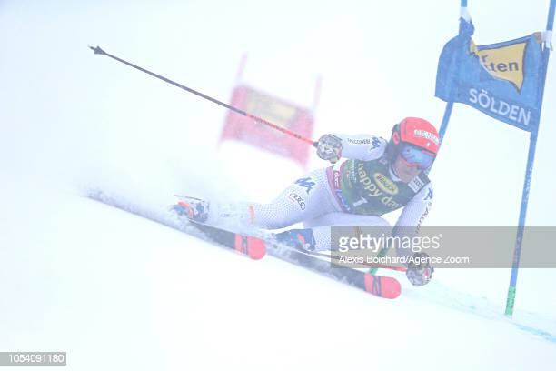 Federica Brignone of Italy during the Audi FIS Alpine Ski World Cup Women's Giant Slalom on October 27 2018 in Soelden Austria