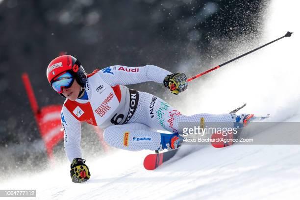 Federica Brignone of Italy in action during the Audi FIS Alpine Ski World Cup Women's Giant Slalom on November 24 2018 in Killington USA