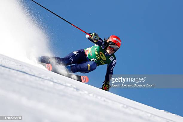 Federica Brignone of Italy in action during the Audi FIS Alpine Ski World Cup Women's Giant Slalom on October 26, 2019 in Soelden, Austria.
