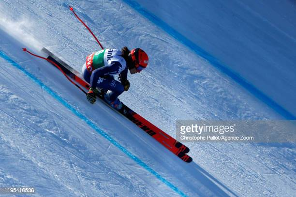 Federica Brignone of Italy in action during the Audi FIS Alpine Ski World Cup Women's Downhill Training on January 23 2020 in Bansko Bulgaria