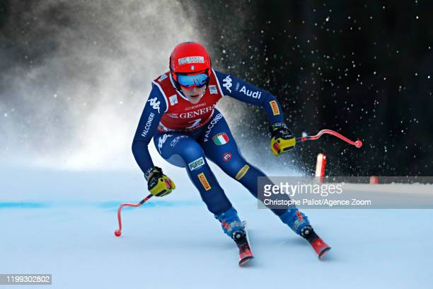 Federica Brignone of Italy in action during the Audi FIS Alpine Ski World Cup Women's Downhill on February 8, 2020 in Garmisch Partenkirchen, Germany.