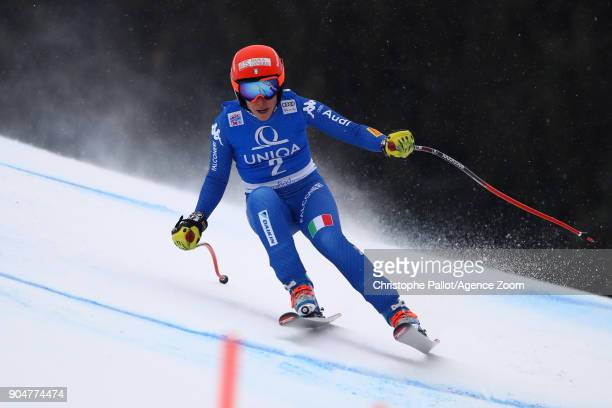 Federica Brignone of Italy in action during the Audi FIS Alpine Ski World Cup Women's Downhill on January 14 2018 in Bad Kleinkirchheim Austria