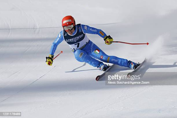 Federica Brignone of Italy in action during the FIS Alpine Ski World Championships Women's Alpine Combined on February 15, 2021 in Cortina d'Ampezzo...