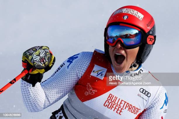 Federica Brignone of Italy takes 1st place during the Audi FIS Alpine Ski World Cup Women's Giant Slalom on November 24 2018 in Killington USA