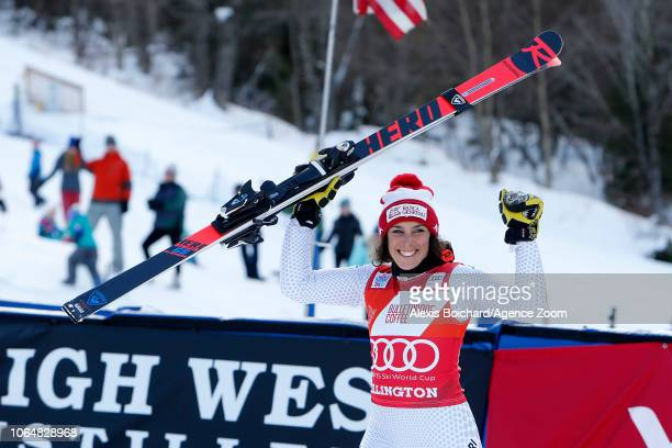 Federica Brignone of Italy takes 1st place during the Audi FIS Alpine Ski World Cup Women's Giant Slalom on November 24, 2018 in Killington USA.
