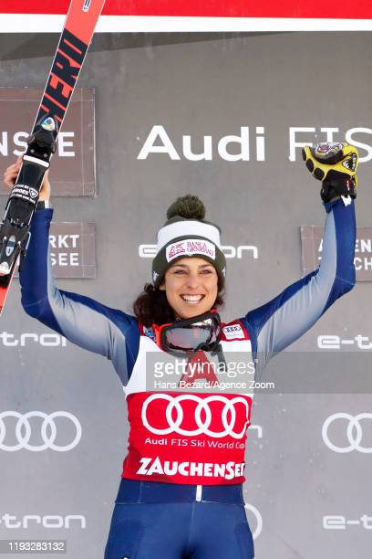 Federica Brignone of Italy takes 1st place during the Audi FIS Alpine Ski World Cup Women's Alpine Combined on January 12, 2020 in Zauchensee Austria.