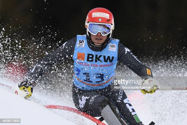 Federica Brignone of Italy takes 1st place during the Audi FIS Alpine Ski World Cup Women's Alpine Combined on February 24 2017 in Crans Montana...