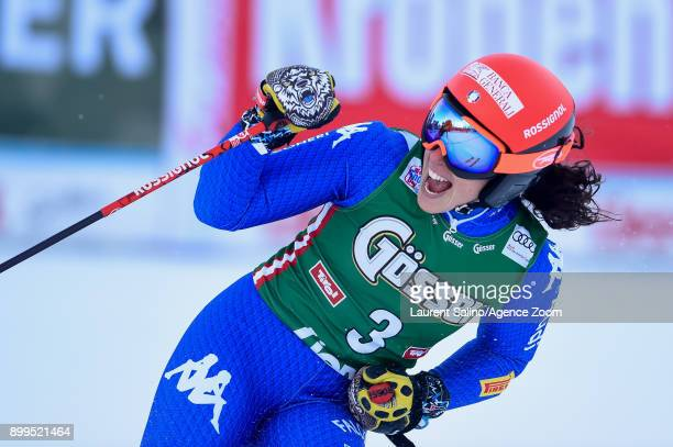 Federica Brignone of Italy takes 1st place during the Audi FIS Alpine Ski World Cup Women's Giant Slalom on December 29 2017 in Lienz Austria