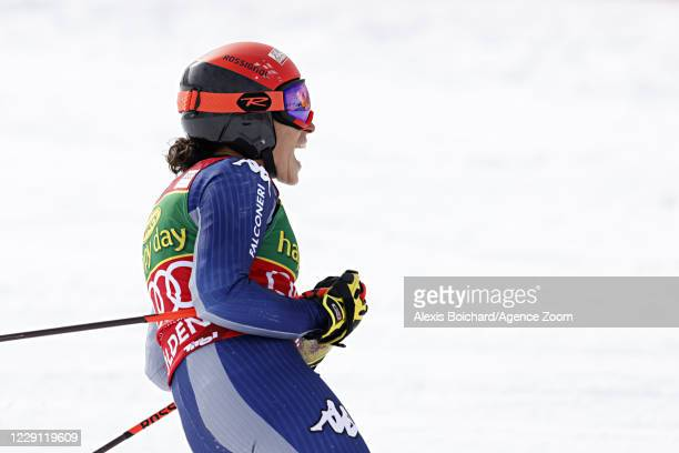 Federica Brignone of Italy takes 2nd place during the Audi FIS Alpine Ski World Cup Women's Giant Slalom on October 17, 2020 in Soelden, Austria.
