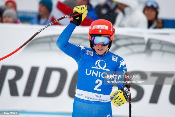 Federica Brignone of Italy takes 2nd place during the Audi FIS Alpine Ski World Cup Women's Downhill on January 14 2018 in Bad Kleinkirchheim Austria