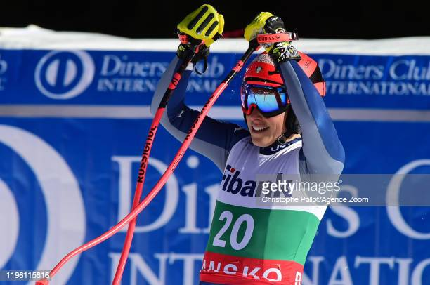 Federica Brignone of Italy takes 3rd place during the Audi FIS Alpine Ski World Cup Women's Downhill on January 25 2020 in Bansko Bulgaria