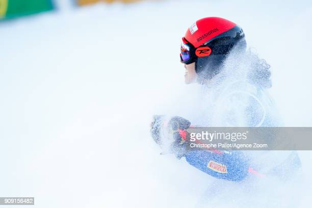 Federica Brignone of Italy takes 3rd place during the Audi FIS Alpine Ski World Cup Women's Giant Slalom on January 23 2018 in Kronplatz Italy