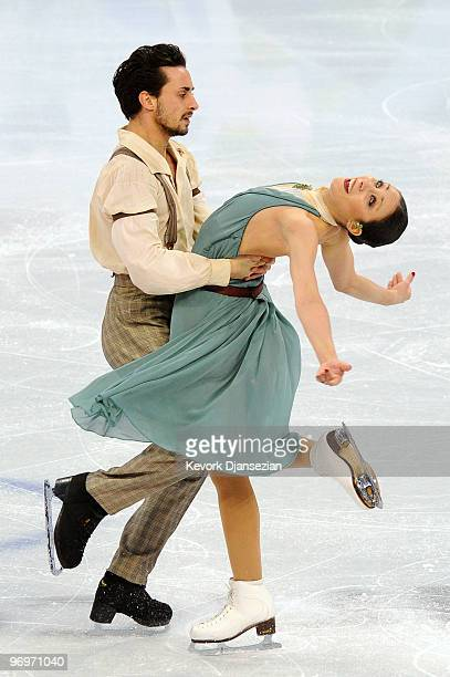 Federica Faiella and Massimo Scali of Italy compete in the free dance portion of the Ice Dance competition on day 11 of the 2010 Vancouver Winter...