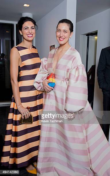 Federica Fanari and Emilia Wickstead attend a cocktail reception during the TWO x TWO For AIDS And Art 2015 Gala and Auction on October 24 2015 in...