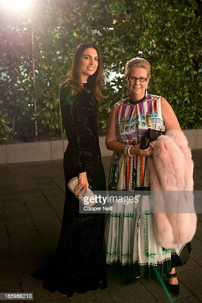 Federica Fanari and Georgina Hartland arrive for the 2013 TWO x TWO for AIDS and Art Gala at the Rachofsky House on October 26 2013 in Dallas Texas