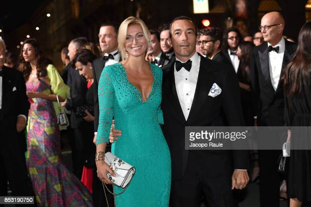 Federica Fontana and Felice Rusconi attend the Green Carpet Fashion Awards Italia 2017 during Milan Fashion Week Spring/Summer 2018 on September 24...