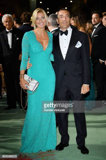 Federica Fontana and Felice Rusconi attends the Green Carpet Fashion Awards Italia 2017 during Milan Fashion Week Spring/Summer 2018 on September 24...