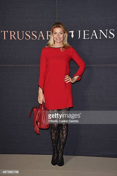 Federica Fontana attends a photocall for 'Trussardi Jeans Celebrates The New IT Bag' party on November 17 2015 in Milan Italy
