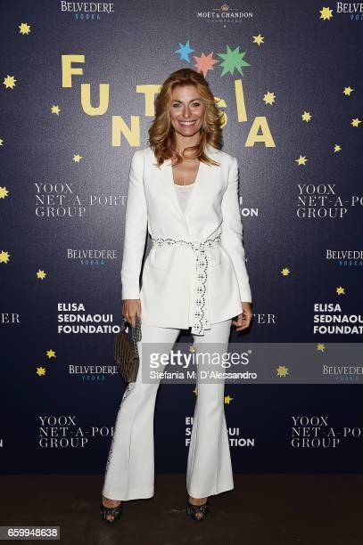 Federica Fontana attends Elisa Sednaoui Foundation and Yoox Net a Porter Event on March 28 2017 in Milan Italy