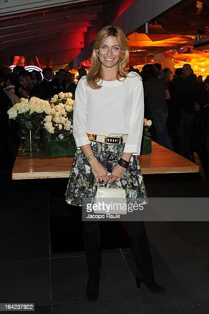 Federica Fontana attends Lacoste 80th Anniversary cocktail party at La Rinascente on March 21 2013 in Milan Italy