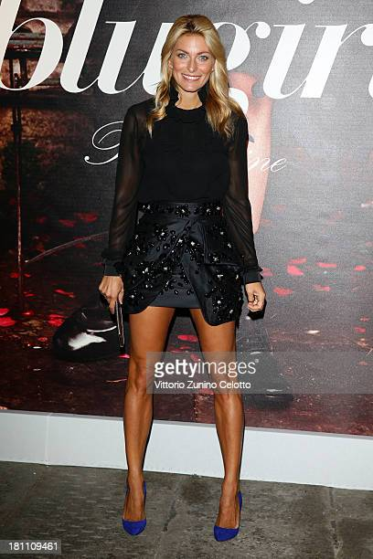 Federica Fontana attends the Blugirl show as a part of Milan Fashion Week Womenswear Spring/Summer 2014 on September 19 2013 in Milan Italy