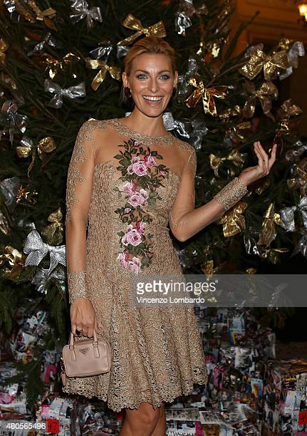 Federica Fontana attends the Fondazione IEO CCM Christmas Dinner For on December 16 2014 in Monza Italy