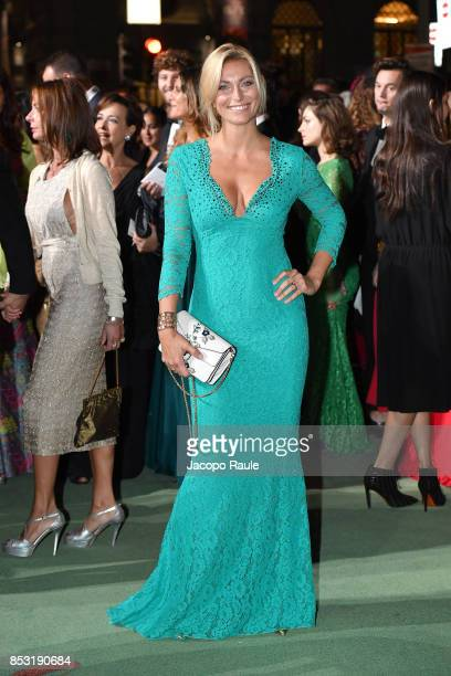 Federica Fontana attends the Green Carpet Fashion Awards Italia 2017 during Milan Fashion Week Spring/Summer 2018 on September 24 2017 in Milan Italy