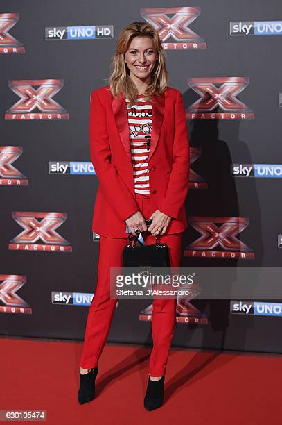 Federica Fontana attends 'X Factor X' Tv Show Red Carpet on December 15 2016 in Milan Italy