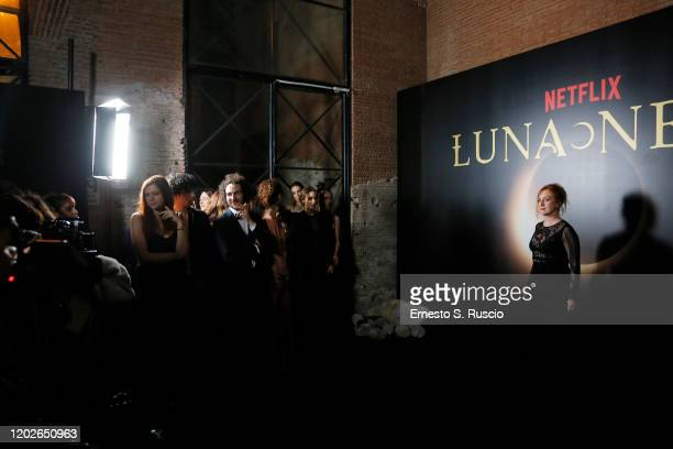 Federica Fracassi attends the Netflix's Luna Nera Premiere Party on January 28 2020 in Rome Italy