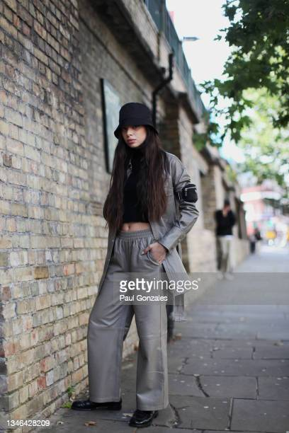 Federica Labanca is seen at COS during London Fashion Week September 2021 on September 21, 2021 in London, England.