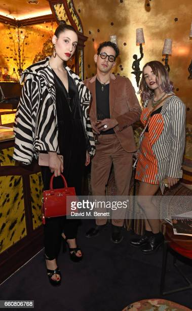 Federica Mannea Emanuele Sangaletti and Linda Rocco attend as The Ingenue celebrates the launch of its 5th issue at Loulou's 5 Hertford Street on...
