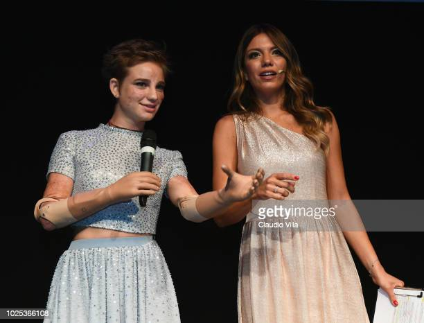 Federica Masolin and Beatrice Bebe Vio attend Laureus F1 Charity Night on August 30 2018 in Milan Italy