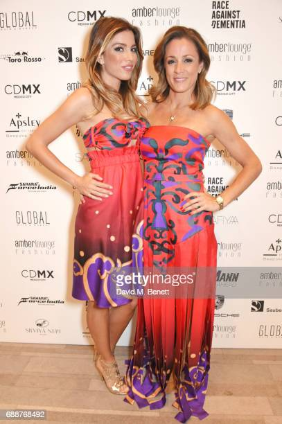 Federica Masolin and Natalie Pinkham attend the Amber Lounge Fashion Monaco 2017 at Le Meridien Beach Plaza Hotel on May 26 2017 in Monaco Monaco