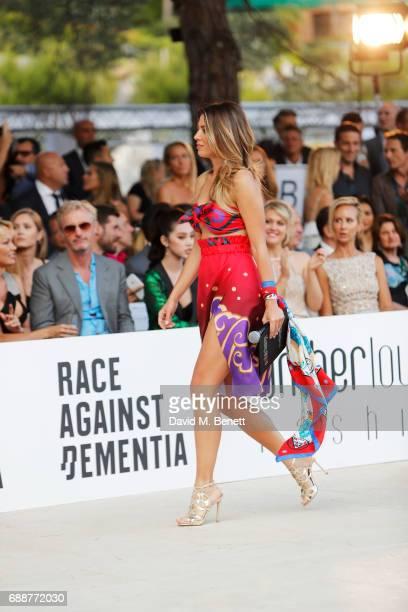 Federica Masolin walks the runway at the Amber Lounge Fashion Monaco 2017 at Le Meridien Beach Plaza Hotel on May 26 2017 in Monaco Monaco