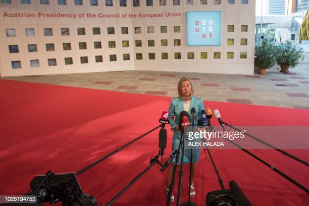 Federica Mogherini European Union High Representative for Foreign Affairs and Security Policy and VicePresident of the European Commission gives a...