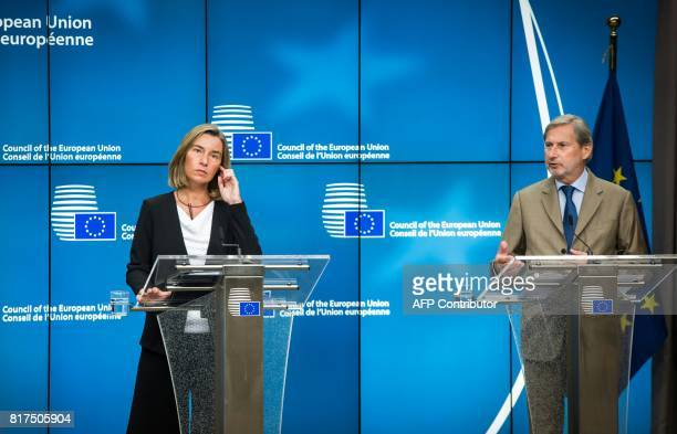 Federica Mogherini High Representative of the Union for Foreign Affairs and Security Policy and Johannes Hahn European Neighbourhood Policy and...
