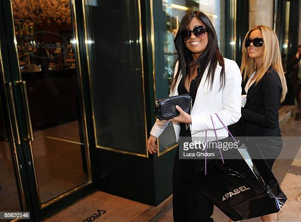 Federica Nargi and Costanza Caracciolo are sighted shopping on March 26 2009 in Milan Italy