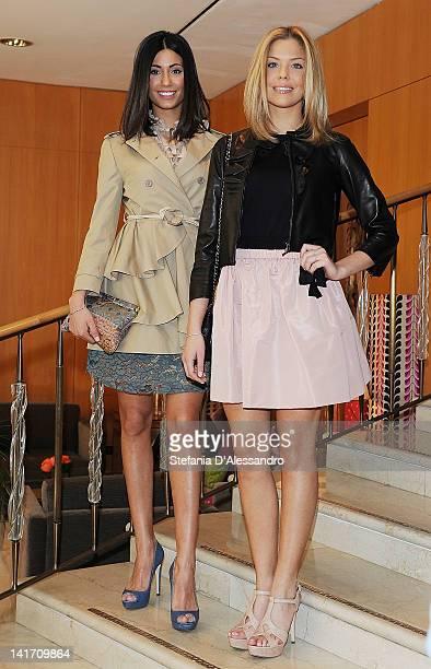 Federica Nargi and Costanza Caracciolo attend 2011 Premio E' Giornalismo Ceremony at Hotel Four Season on March 22, 2012 in Milan, Italy.