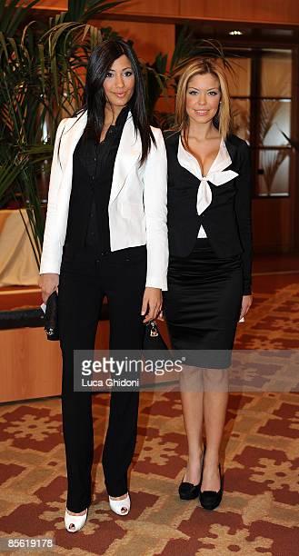 Federica Nargi and Costanza Caracciolo attend the 2008 E' Giornalismo award on March 26 2009 in Milan Italy Attilio Bolzoni of 'la Repubblica'...