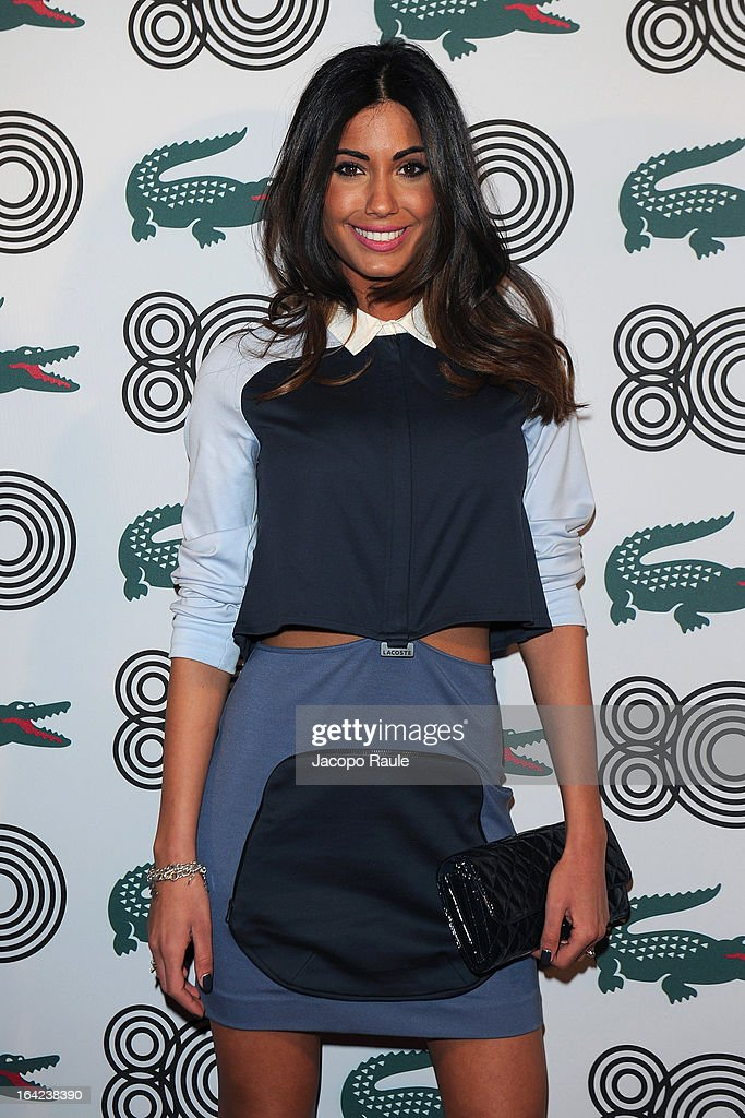 Federica Nargi attends Lacoste 80th Anniversary cocktail party at La Rinascente on March 21, 2013 in Milan, Italy.