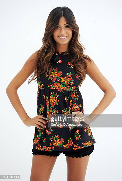 Federica Nargi attends 'Striscia La Notizia' Italian Tv Show Press Conference held at the Triennale Museum on September 16 2010 in Milan Italy