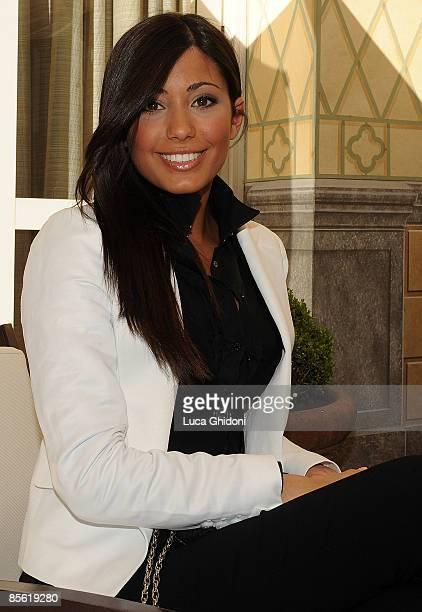 Federica Nargi attends the 2008 E' Giornalismo award on March 26 2009 in Milan Italy Attilio Bolzoni of 'la Repubblica' newspaper won this years...