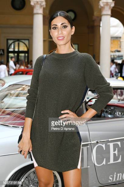 Federica Nargi attends the Iceberg show during Milan Fashion Week Spring/Summer 2019 on September 21 2018 in Milan Italy