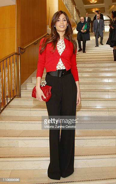 Federica Nargi attends the Premio E' Giornalismo 2010 Cocktail held at Hotel Four season on March 23 2011 in Milan Italy